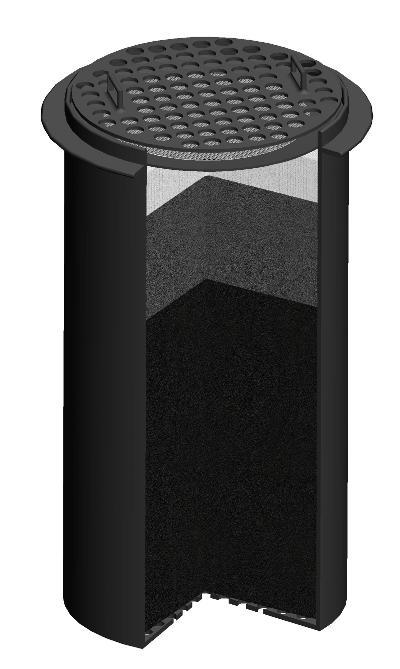 Комбинированный фильтрующий патрон черный