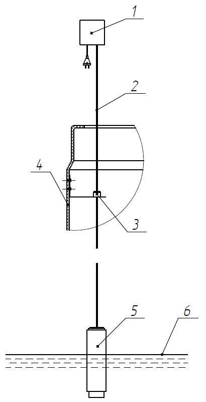 Схема монтажа датчика контроля накопившегося жира